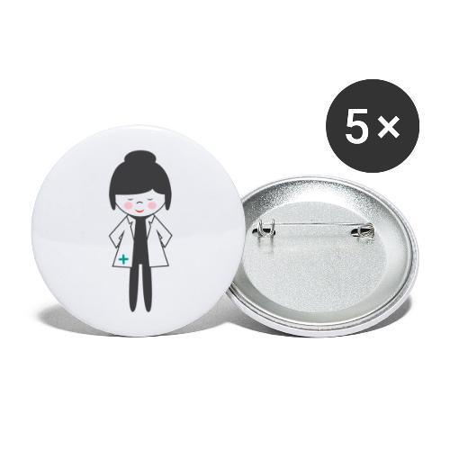 Doctora Retail Small Business - Paquete de 5 chapas grandes (56 mm)