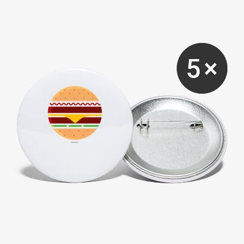 Circle Burger - Confezione da 5 spille grandi (56 mm)