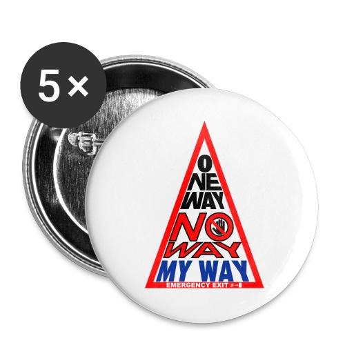 No way - Confezione da 5 spille grandi (56 mm)