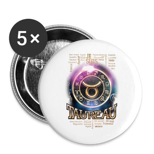 TAUREAU - Lot de 5 grands badges (56 mm)