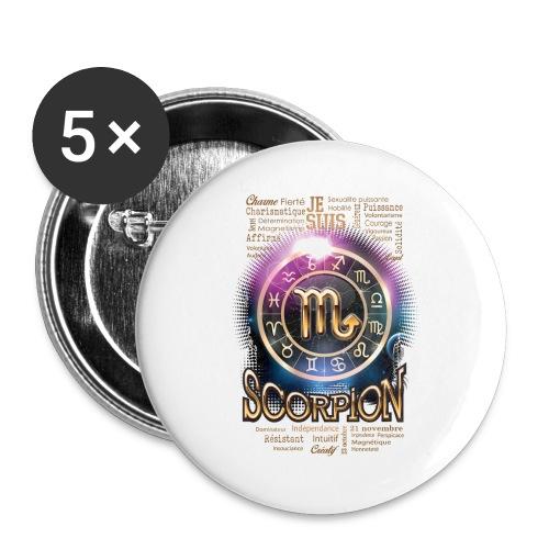 SCORPION - Lot de 5 grands badges (56 mm)
