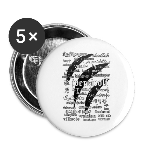 Werewolf in 33 Languages.png - Buttons large 2.2''/56 mm(5-pack)