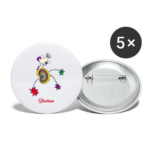 Starteen - Lot de 5 grands badges (56 mm)