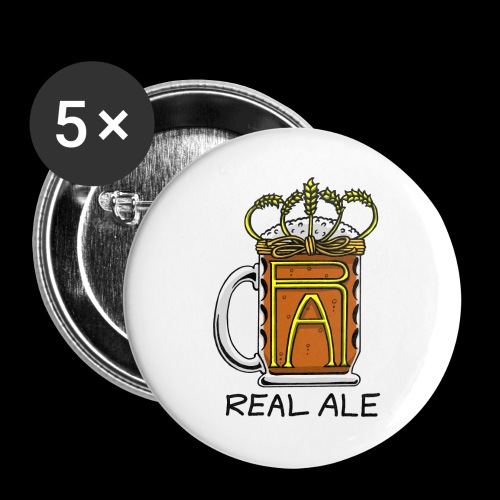 Real Ale - Buttons large 2.2''/56 mm(5-pack)