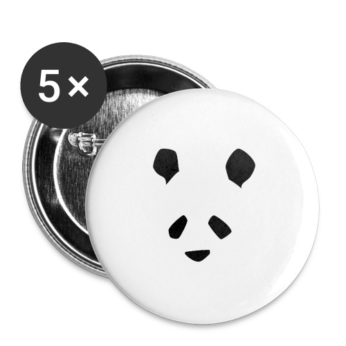Simple Panda - Buttons large 2.2''/56 mm(5-pack)