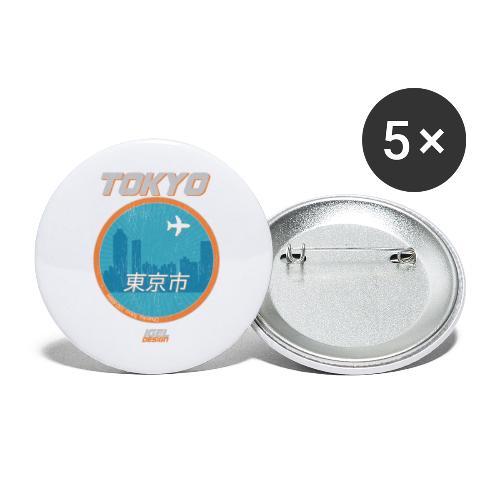 Tokyo - Buttons groß 56 mm (5er Pack)
