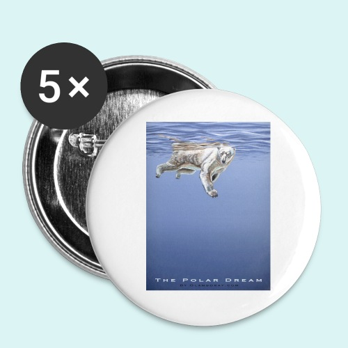 The Polar Dream - Buttons large 2.2''/56 mm(5-pack)