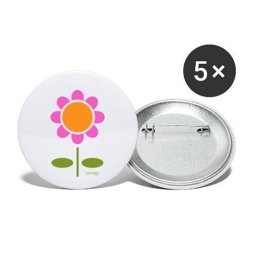 Retro flower - Rintamerkit isot 56 mm (5kpl pakkauksessa)