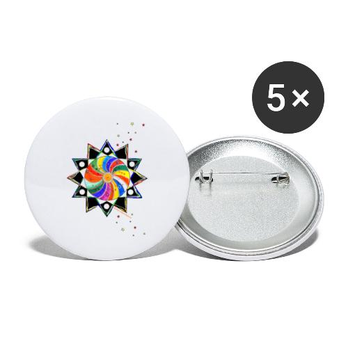 SternenZauber - Buttons groß 56 mm (5er Pack)