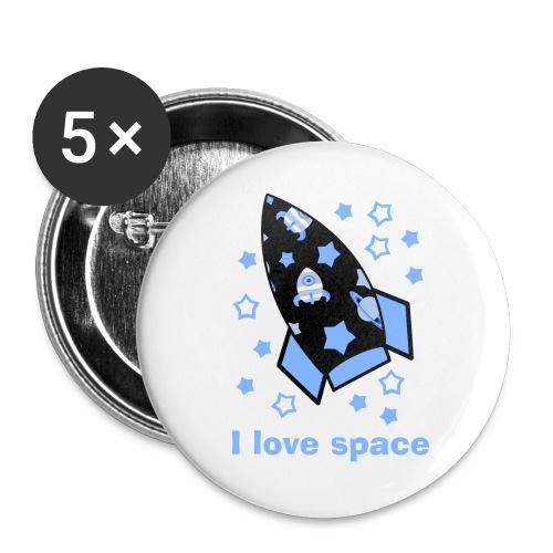 I love space - Confezione da 5 spille grandi (56 mm)