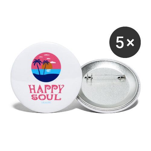 Happy Soul! - Buttons groß 56 mm (5er Pack)