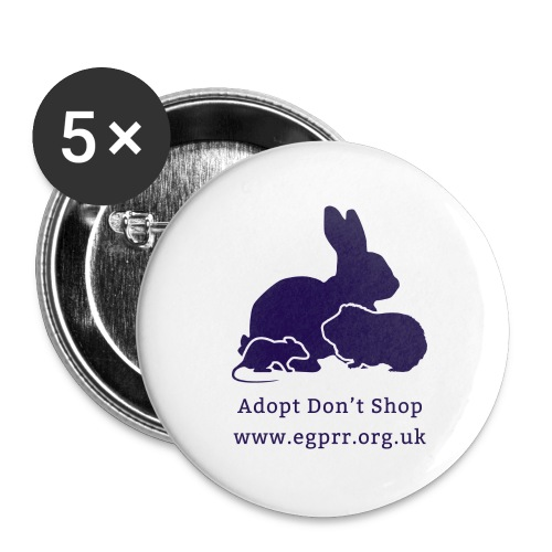Adopt Don t Shop Dark - Buttons large 2.2''/56 mm(5-pack)