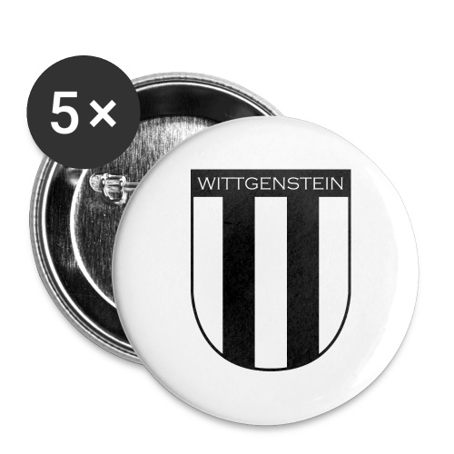 Wappen Wittgenstein - Buttons groß 56 mm (5er Pack)