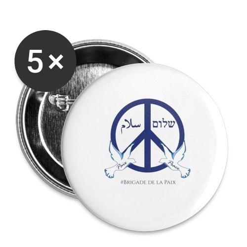BrigadeDeLaPaixDesign - Lot de 5 grands badges (56 mm)