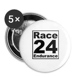 Race24 logo in black - Buttons large 56 mm
