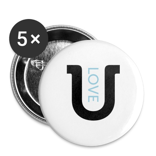 love 2c - Buttons large 2.2''/56 mm (5-pack)