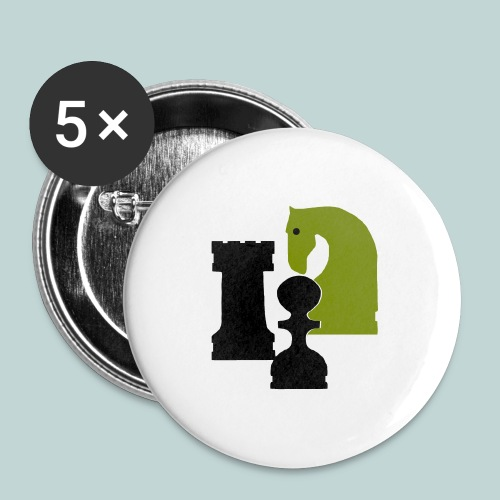 Figurenguppe1 - Buttons groß 56 mm (5er Pack)
