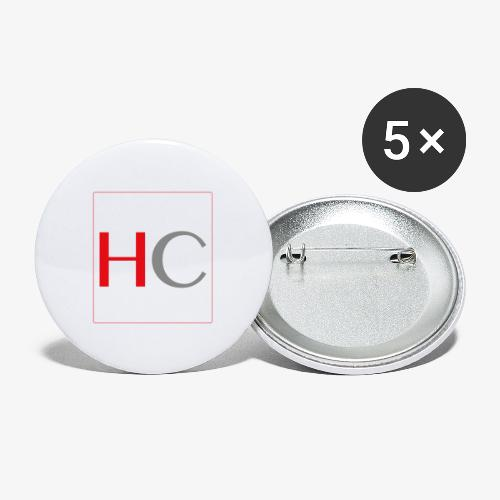 hc png - Lot de 5 grands badges (56 mm)