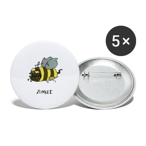 Zombee - Buttons groß 56 mm (5er Pack)