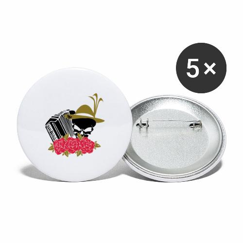 Rock Harmonika - Buttons groß 56 mm (5er Pack)