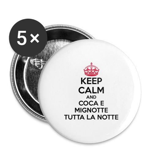 Coca e Mignotte Keep Calm - Confezione da 5 spille grandi (56 mm)