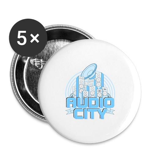AudioCity - Buttons groß 56 mm (5er Pack)