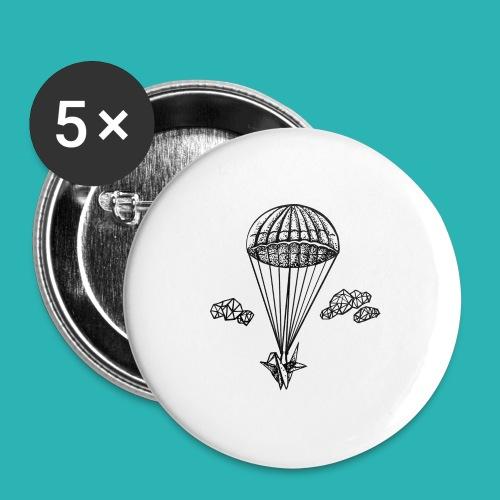 Veleggiare_o_precipitare-png - Confezione da 5 spille grandi (56 mm)