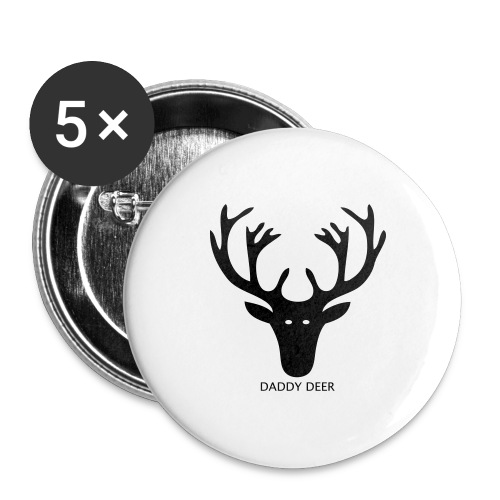 DADDY DEER - Buttons large 2.2''/56 mm(5-pack)