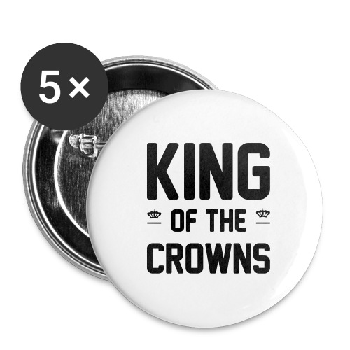 King of the crowns - Buttons groot 56 mm (5-pack)