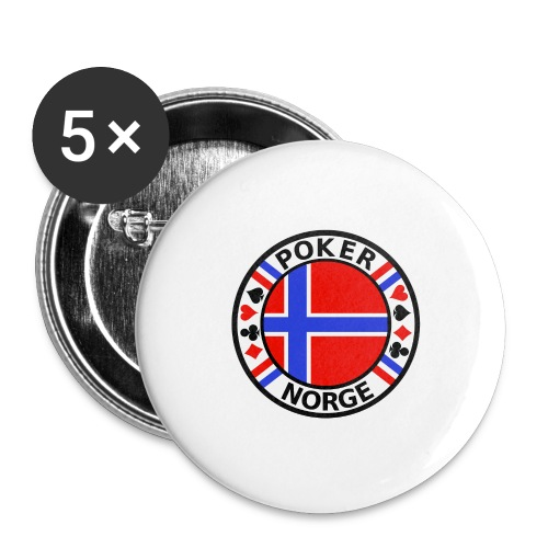 PoKeR NoRGe - Buttons large 2.2''/56 mm(5-pack)