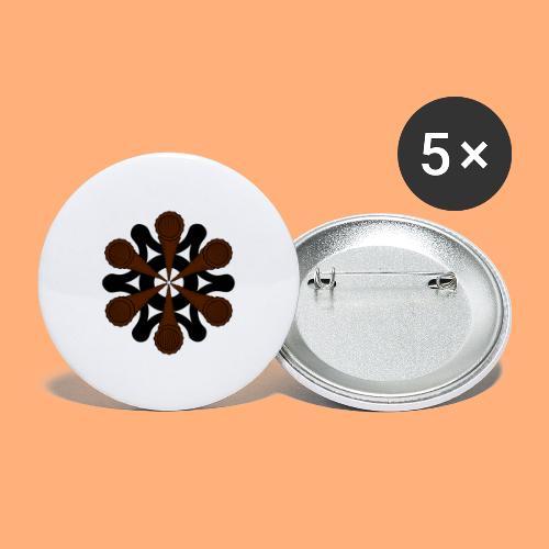 vortex - Lot de 5 grands badges (56 mm)