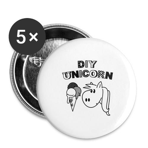 DIY Unicorn Einhorn - Buttons groß 56 mm (5er Pack)