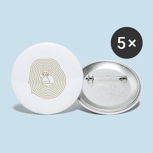 Katzenliebe - Buttons groß 56 mm (5er Pack)