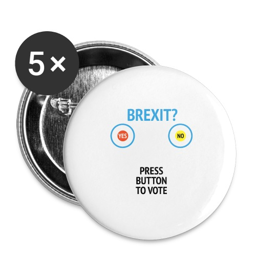 Brexit: Press Button To Vote - Buttons/Badges stor, 56 mm (5-pack)