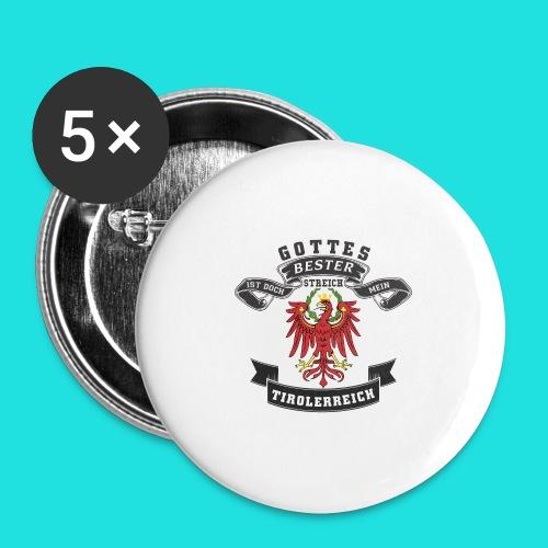Tiroler - Buttons groß 56 mm (5er Pack)