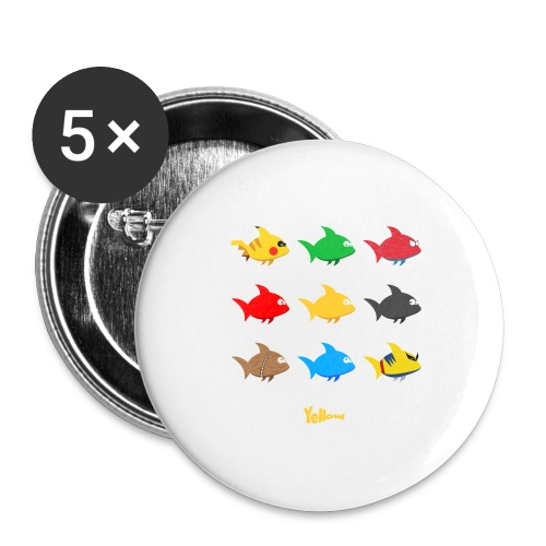 Swim! Yellow! Swim! - Buttons groot 56 mm (5-pack)