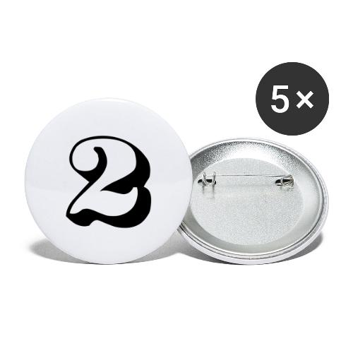 cool number 2 - Buttons groot 56 mm (5-pack)