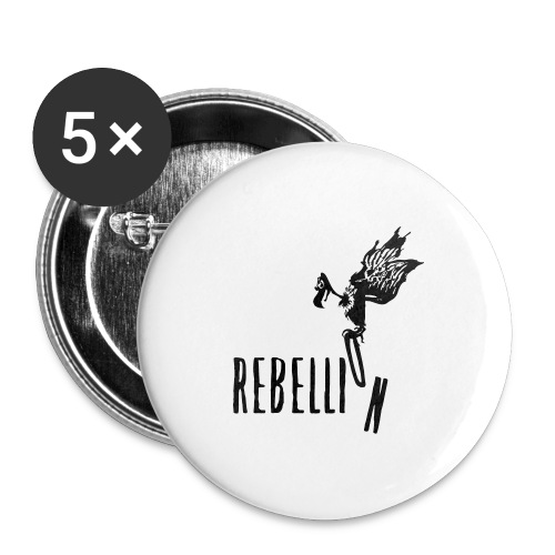 Rebellion - Buttons groß 56 mm (5er Pack)