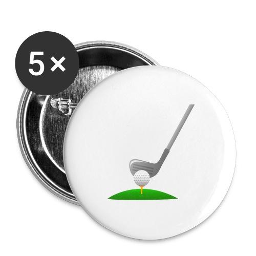 Golf Ball PNG - Paquete de 5 chapas grandes (56 mm)