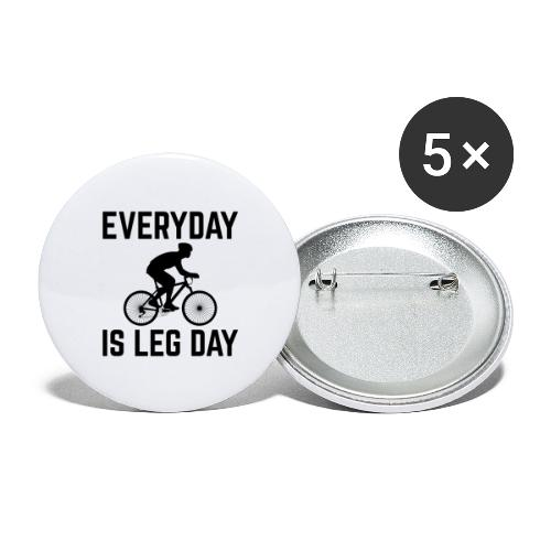 Everyday is Leg Day! - Buttons groß 56 mm (5er Pack)