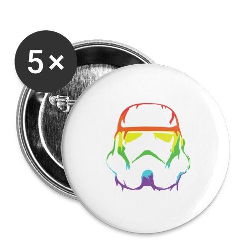 Pride Trooper - simple - Rintamerkit isot 56 mm (5kpl pakkauksessa)