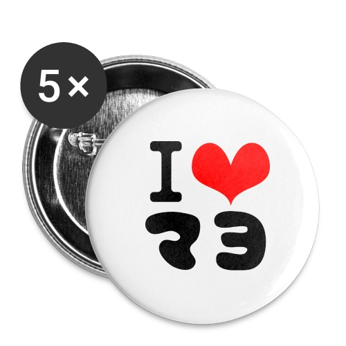 I Love MAYO(J) - Buttons large 2.2''/56 mm(5-pack)