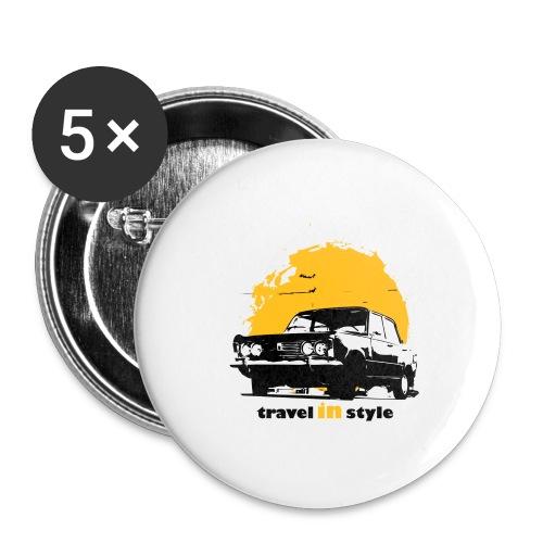 Travel in style - Przypinka duża 56 mm (pakiet 5 szt.)