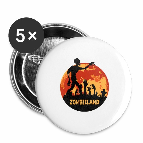 Zombieland Halloween Design - Buttons groß 56 mm (5er Pack)