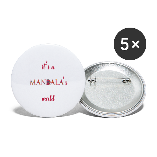It's a mandala's world - Buttons large 2.2''/56 mm (5-pack)