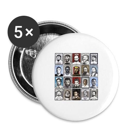 ACEO - Confezione da 5 spille grandi (56 mm)