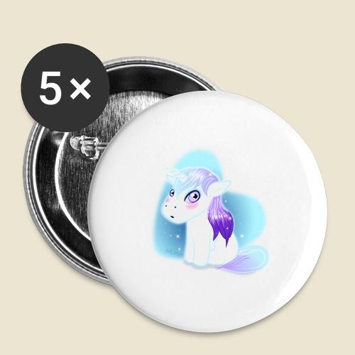 Licorne n°2 - Lot de 5 grands badges (56 mm)