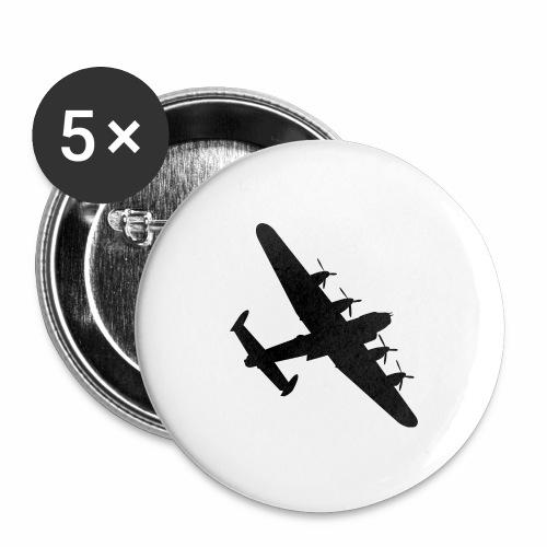 Bomber Plane - Confezione da 5 spille grandi (56 mm)