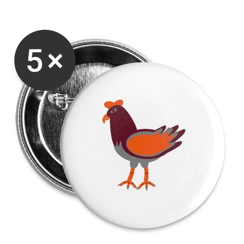 Cock.svg - Confezione da 5 spille grandi (56 mm)