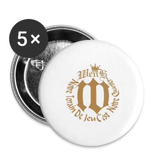 WENKA - Lot de 5 grands badges (56 mm)